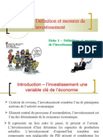 théme 1- définition et mesures de l'investissement