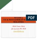 05 Undang-undang dan Pentadbiran Wakaf di Malaysia