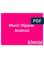 Music Digipak Analysis