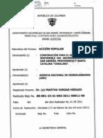 Proceso - Accion Popular Coralina Vs Agencia Nacional de Hidrocarburos, Ecopetrol, REPSOL YPS