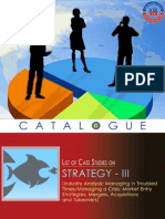 Case Studies in Strategy(Catalogue III)