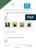 Pronunciation Quiz 2