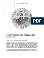 On Professional Journalists