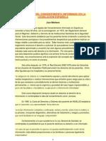 EVOLUCIÓN DEL CONSENTIMIENTO INFORMADO EN LA LEGISLACIÓN ESPAÑOLA