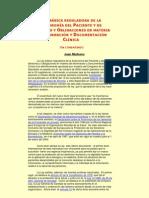 Ley básica reguladora de la Autonomía del Paciente y de Derechos y Obligaciones en materia de Información y Documentación Clínica