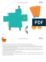 Phineas Ferb Perry Paper Craft Printable 0611