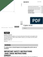 Manual Sony Cybershot DSC-j10