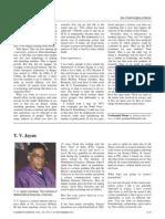 Meeting a Newspaperman, T. V. Jayan