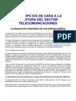 Anexo Comunicado 11-11-11 Grupo ICE de Cara a La Apertura