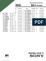 SONY CHASSIS BA-4 (C-TV  KV-13M40_50_51, KV-14MB40, KV-20M40, KV-20S40_41, KV-20V80, KV-21SE80, KV-21SE40, KV-21ME40...SERVICE MANUAL)