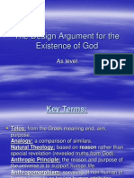The Design Argument for the Existence of God