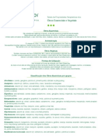 Tabela óleos essenciaisTerra Flor
