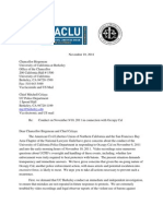 ACLU Public Records Act Request to UC Police
