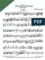 Jacob - Seven Bagatelles for Solo Oboe