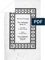 Vettius Valens - The Anthology, Book IV