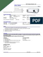 Installation Guide Nec m260gx