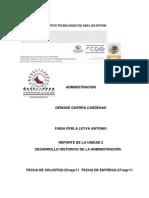 DESARROLLO HISTORICO DE LA ADMINISTRACIÓN