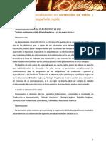 Información del I curso de ortotipografía