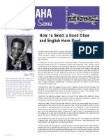 Reeds - How to Select a Good Oboe and English Horn Reed