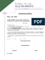 Certificado Retiro