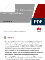 Training_iManager PRS Product Introduction and Key Features-20110707-B-1.0