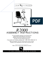 Trek Vision Fitness R2000 Semi-recumbent Bike Assembly Instructions