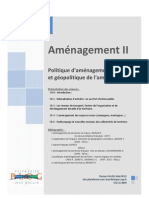 Amenagement Politique d Amenagement Durable Et Geopolitique de l Amenagement