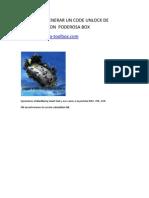 Formas de Generar Un Code Unlock de Blackberry Con Poderosa Box