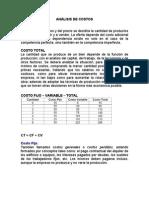 ANÁLISIS DE COSTOS - CLASES