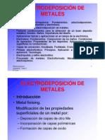 Electrodeposición de Metales