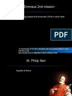 St Philip Neri and The Emmaus second mission