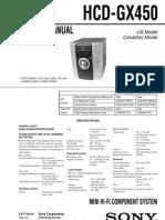 HCD-GX450