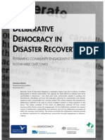 Deliberative Democracy in Disaster Recovery