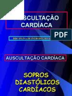 aula nº 3AUSCULTAÇÃO CARDÍACA - SOPROS DIASTÓLICOS