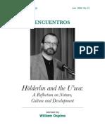 Holderlin and the u'Wa...