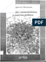 Zygmunt Bauman Trabajo, Consumismo y Nuevos Pobres (Libro Completo)