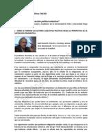 Ficha Segunda Cátedra Libre - Acción Política Colectiva Basaure