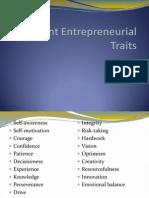 Important Entrepreneurial Traits