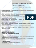 PROGRAMA  - COLOQUIO ESTUDIOS DE GÉNERO SOBRE AMÉRICA LATINA - 2011 (1)