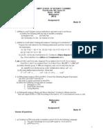 ADL - 301 Mathematics