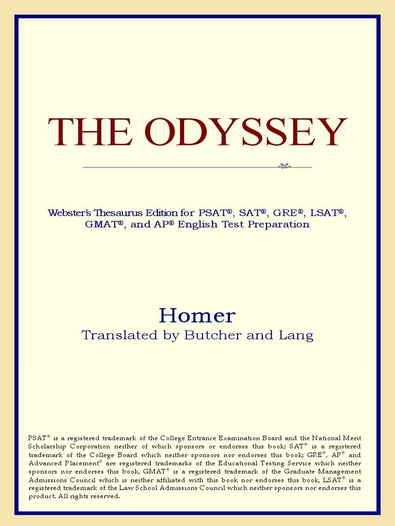 The Odyssey Odysseus Odyssey