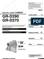 JVC GR-D290, GR-D270 DIGITAL VIDEO CAMERA USER'S MANUAL