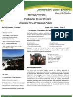 Newsletter, October, 2011, Volume I, Issue I