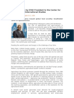 Policy address by IFAD President - 2010