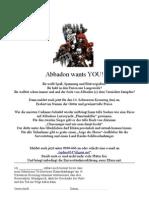 Abbadon Wants You