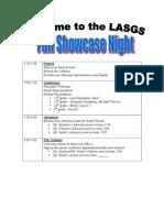showcase night agenda