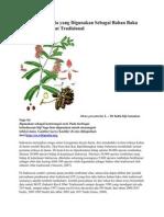 Database Simplisia Yang Digunakan Sebagai Bahan Baku Pada Industri Obat Tradisional