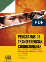 Programas Transferencias Condicionadas ALC 95