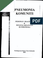 Pneumonia Komuniti PDPI 2003