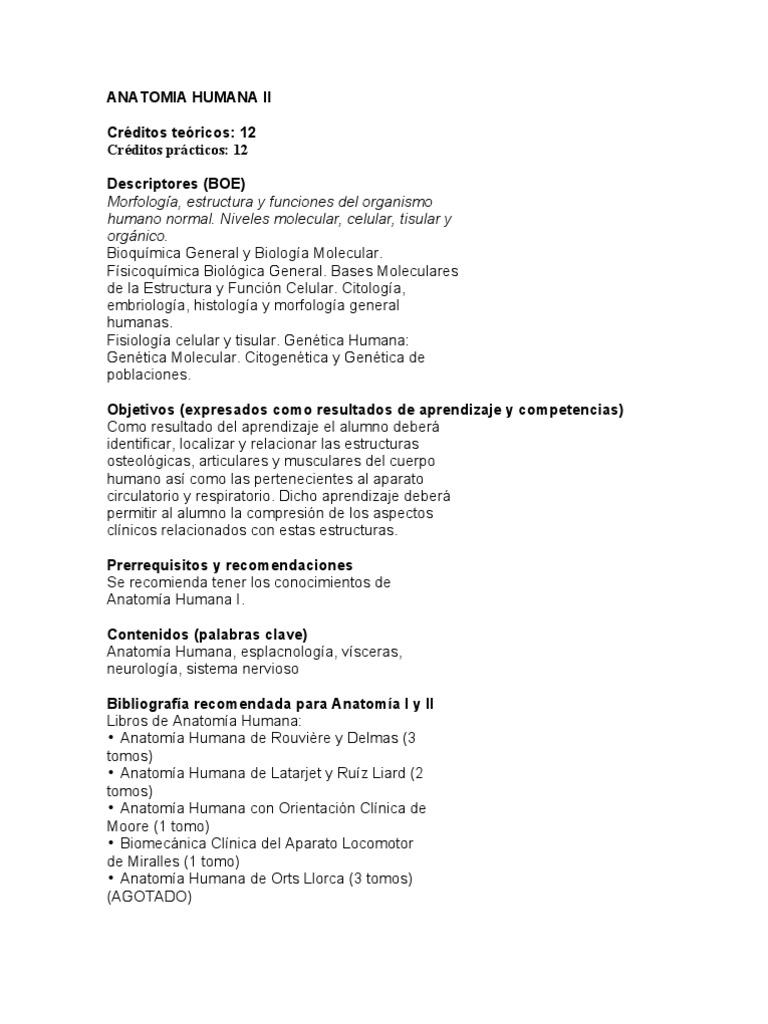 Guia Anatomia Humana II 09 10